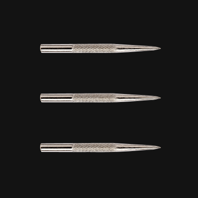 Knurled Silver-Effect Points
