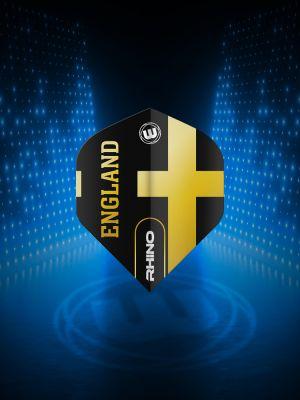 Winmau Rhino Black & Gold Flag - England