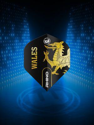 Winmau Rhino Black & Gold Flag - Wales