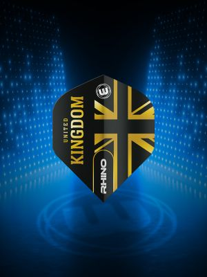 Winmau Rhino Black & Gold Flag - United Kingdom