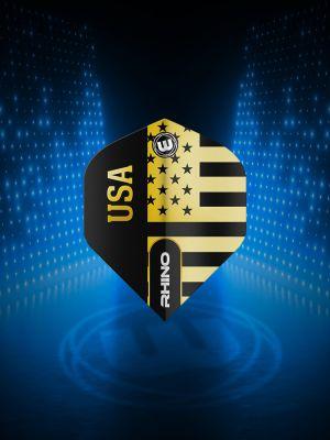 Winmau Rhino Black & Gold Flag - USA