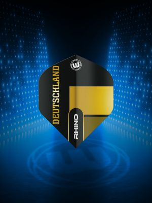 Winmau Rhino Black & Gold Flag - Deutschland