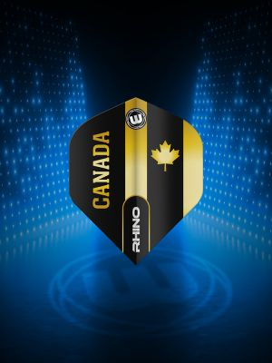 Winmau Rhino Black & Gold Flag - Canada