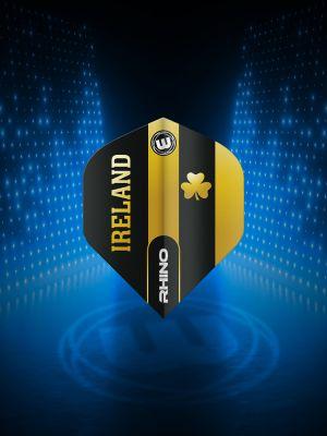 Winmau Rhino Black & Gold Flag - Ireland