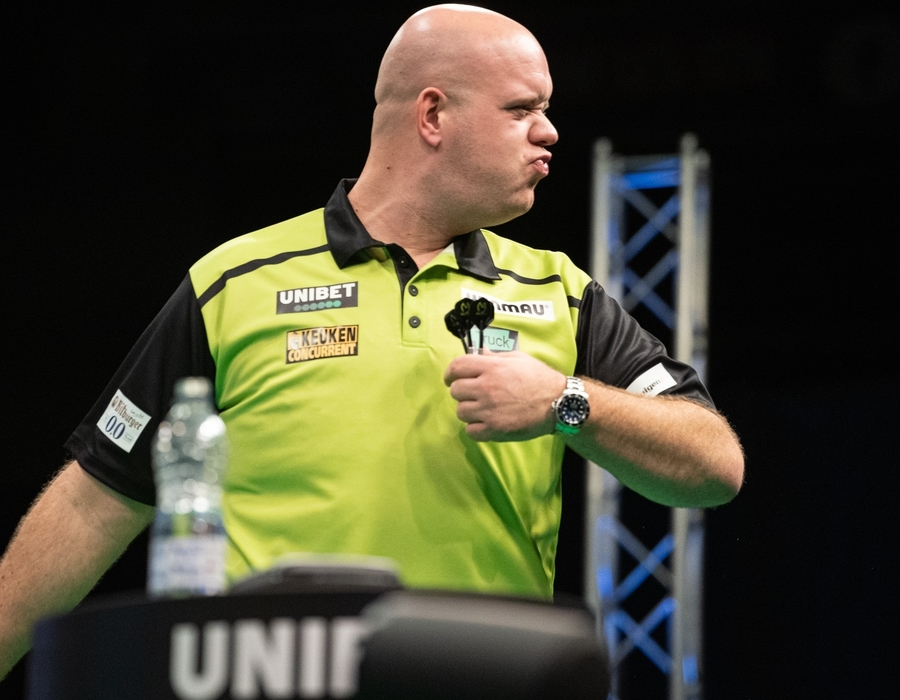 Michael van Gerwen Fires Himself into Second Round Clash with White