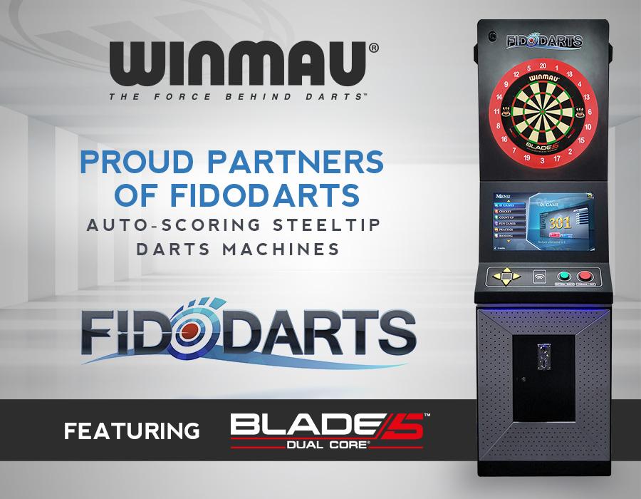 Winmau Partners with Auto-scoring Steeltip Darts Brand FidoDarts