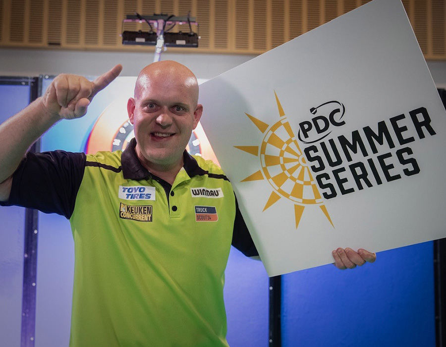 Van Gerwen Returns to Action with PDC Summer Series Day One Win