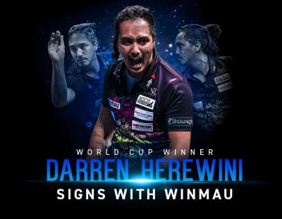 World Cup Winner Darren Herewini Signs with Winmau