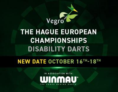 Disability Darts 2020 European Championships - October 16-18