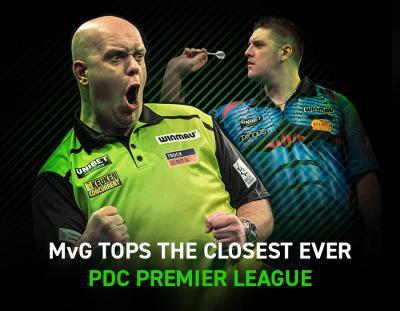 MvG tops the closest ever PDC Premier League