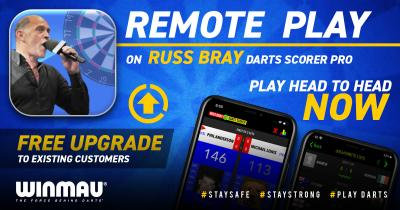 Winmau support TIG to deliver remote play on Russ Bray Pro Darts Scorer