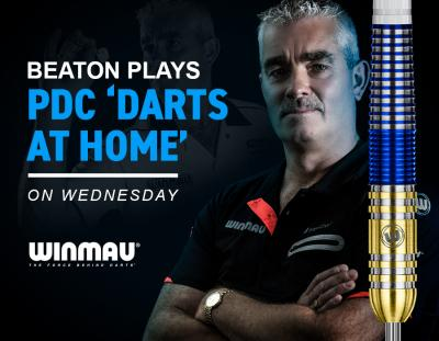 """The Legend Beaton plays PDC """"Darts At Home' on Wednesday"""