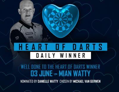 Heart of Darts Winner - 3rd June 2020