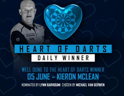 Heart of Darts Winner - 5th June 2020