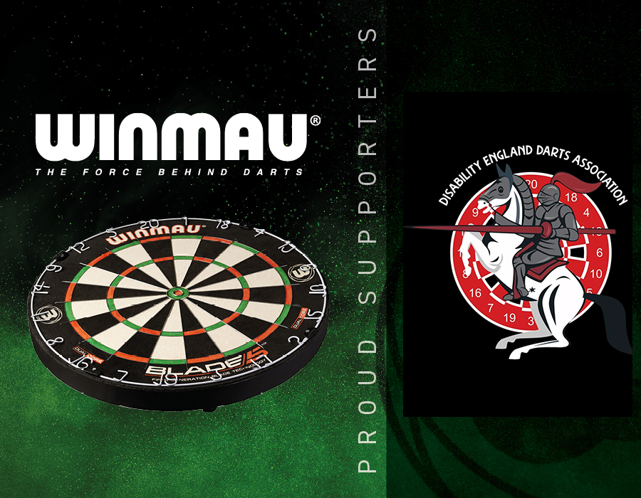 Winmau Announces Partnership with Disability England Darts Association