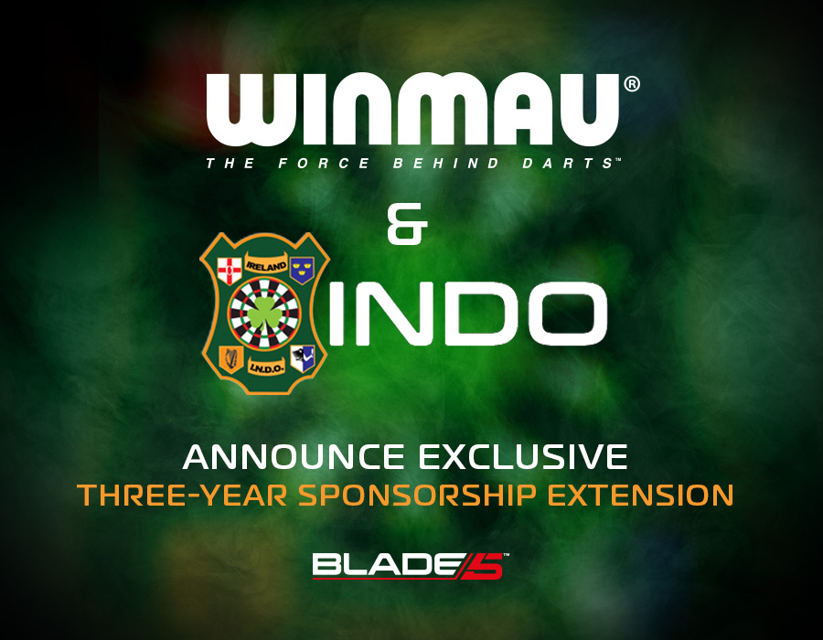 Winmau and Irish National Darts Organisation Announce Three-Year Sponsorship Extension