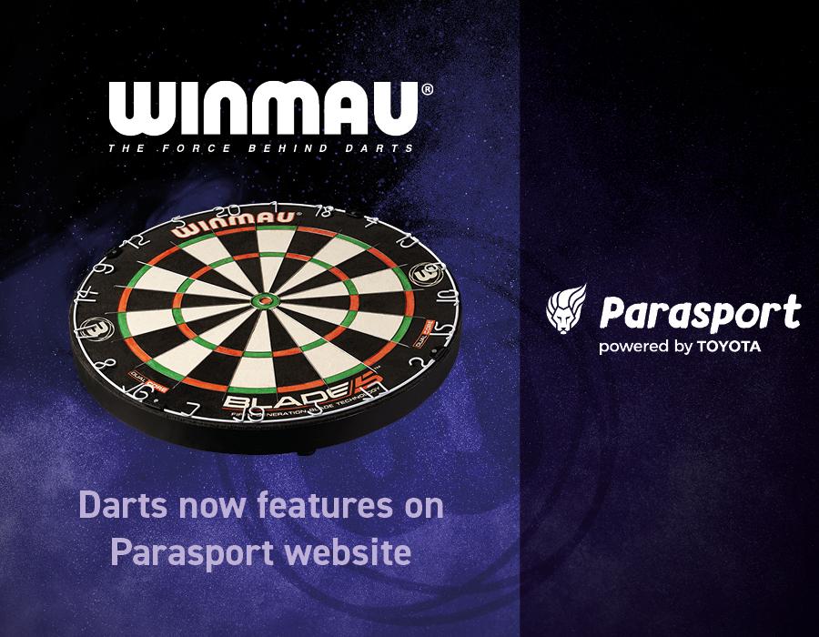 Darts now features on Parasport website