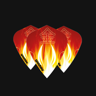 Kite Poly Red Flame