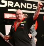 Tony is right on target with darts donation