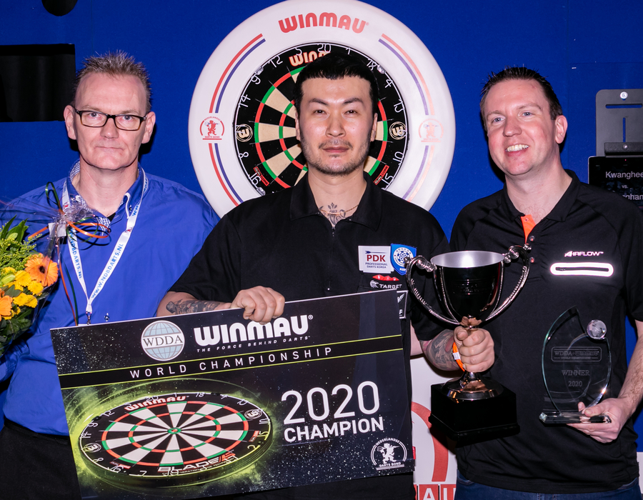 Kwanghee Cho Wins the Inaugural WDDA Winmau World Championship
