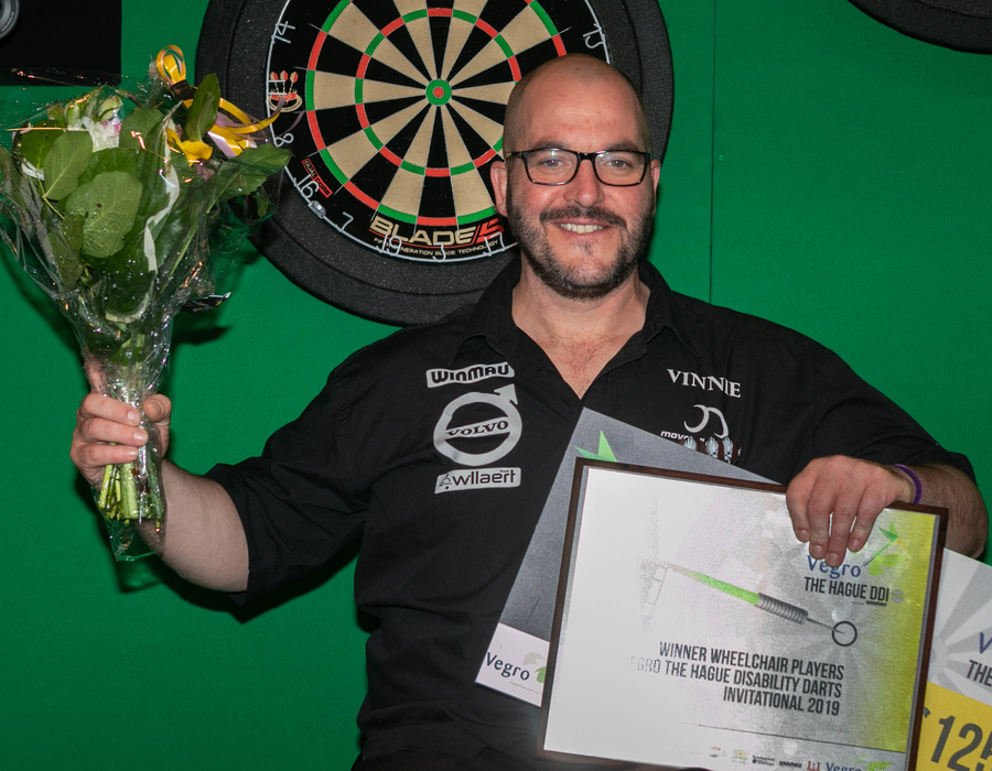Vincent D'hondt Claims Second The Hague Disability Darts Invitational Win