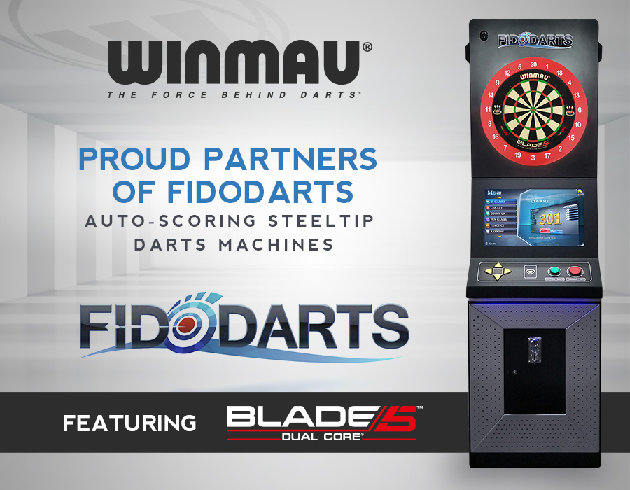 Winmau Partners with Auto-scoring Steeltip Darts Brand FidoDarts