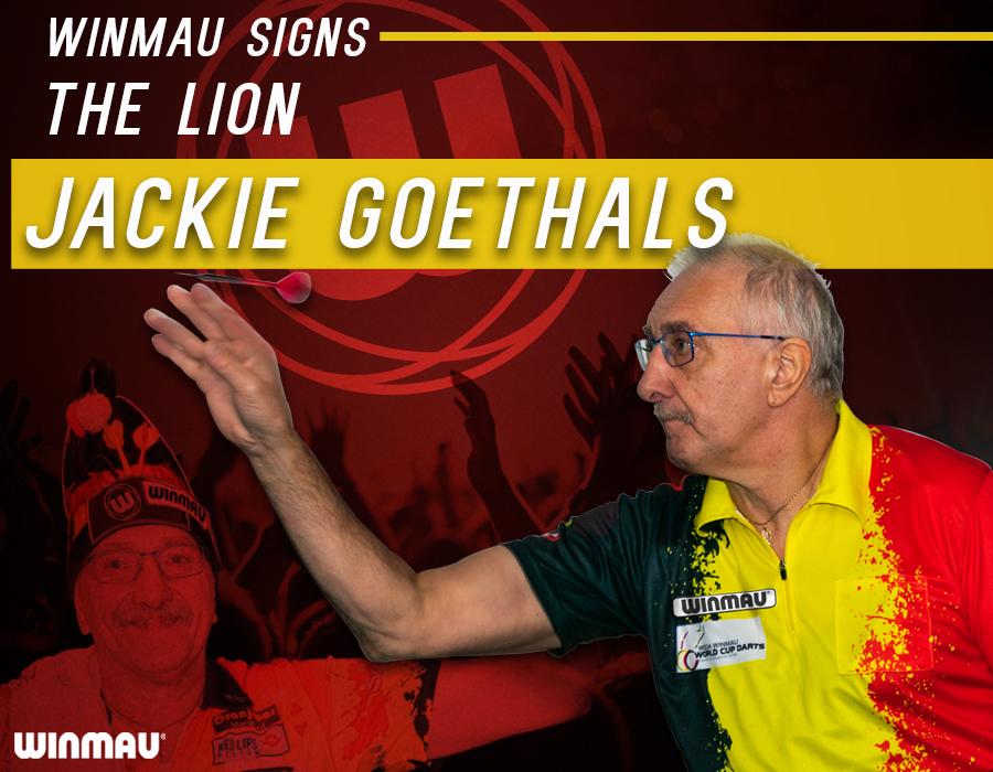 Winmau Signs Jackie Goethals - Belgium's 'Mr. Darts'