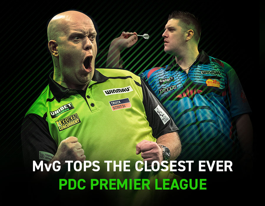 MvG tops the closest ever PDC Premier League