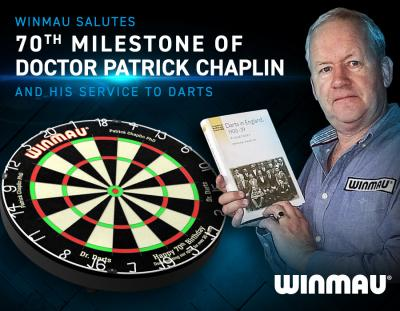 Winmau Salutes 70th Milestone of Doctor Patrick Chaplin and his Service to Darts