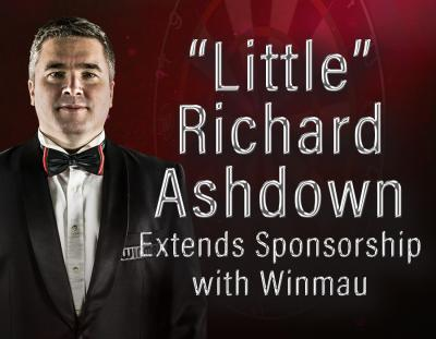"""Little"" Richard Ashdown Extends Sponsorship with Winmau"