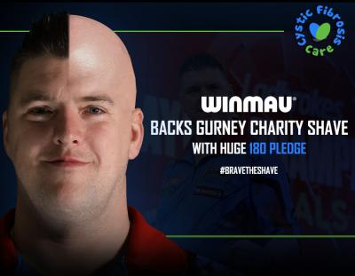Winmau Backs Gurney Charity Shave with Huge 180 Pledge
