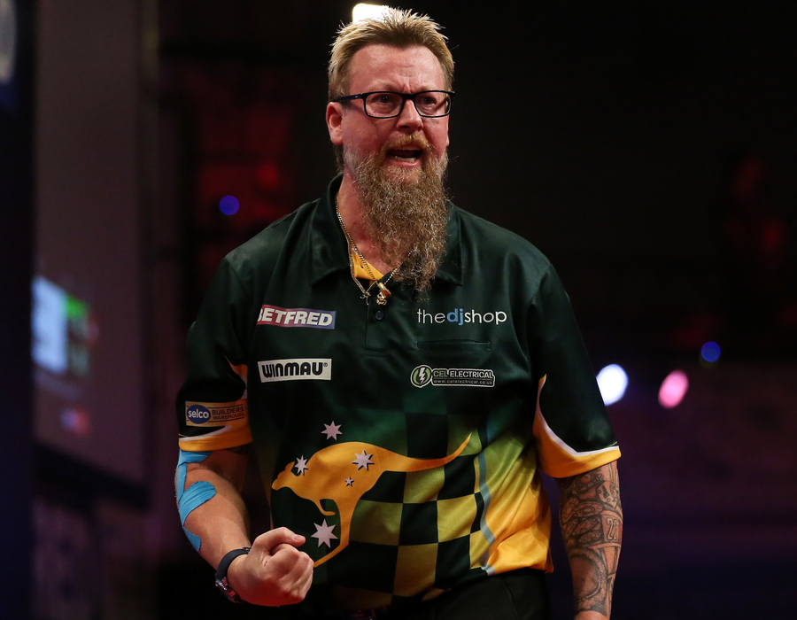 Whitlock Passes Stern First Round Test - World Matchplay Day Three